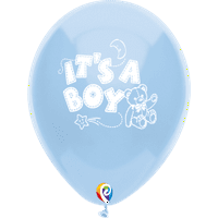 Party Supplies - Pioneer Latex Balloon It's a Boy Baby Blue 8 ct 57443