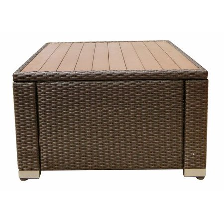 World Wide Wicker Tampa Manufactured Wood Coffee Table ()