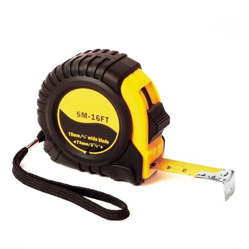 "Wideskall® 16 Feet 3/4"" inch Professional Retractable Steel Measuring Tape Measure Metric & Imperial Ruler with Posi-Lock and Belt Clip"