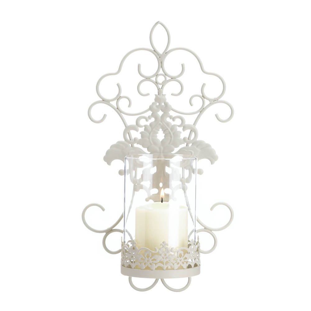 Sconce Candle, Modern Bathroom Candle Sconce, Romantic Metal Wall Sconces  Holder