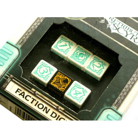 Q-Workshop Warmachine Retribution of Scyrah Faction Dice Set (6 Piece Set)