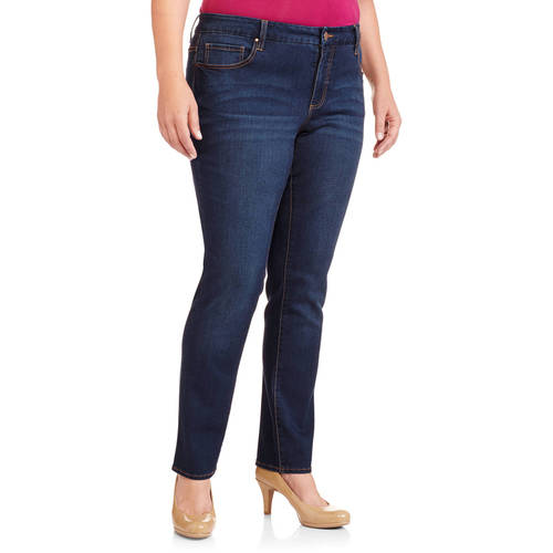 Faded Glory Women's Plus-Size Velvet Touch Slim Straight Jeans