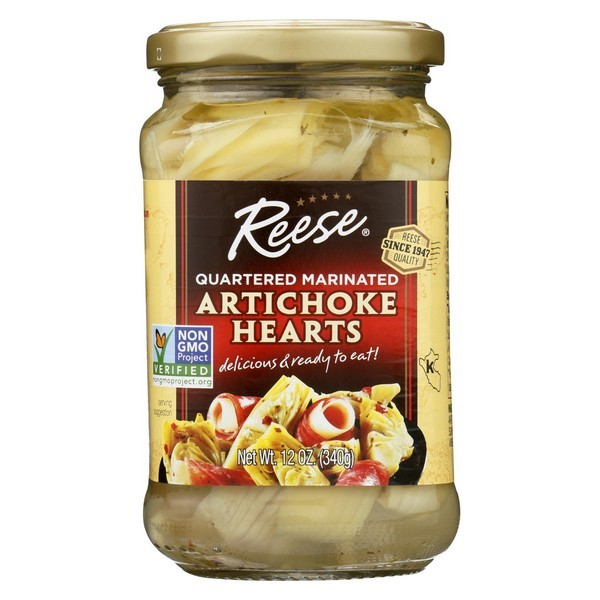 Reese Marinated Artichoke Hearts - Quartered - pack of 12 - 12 Oz.