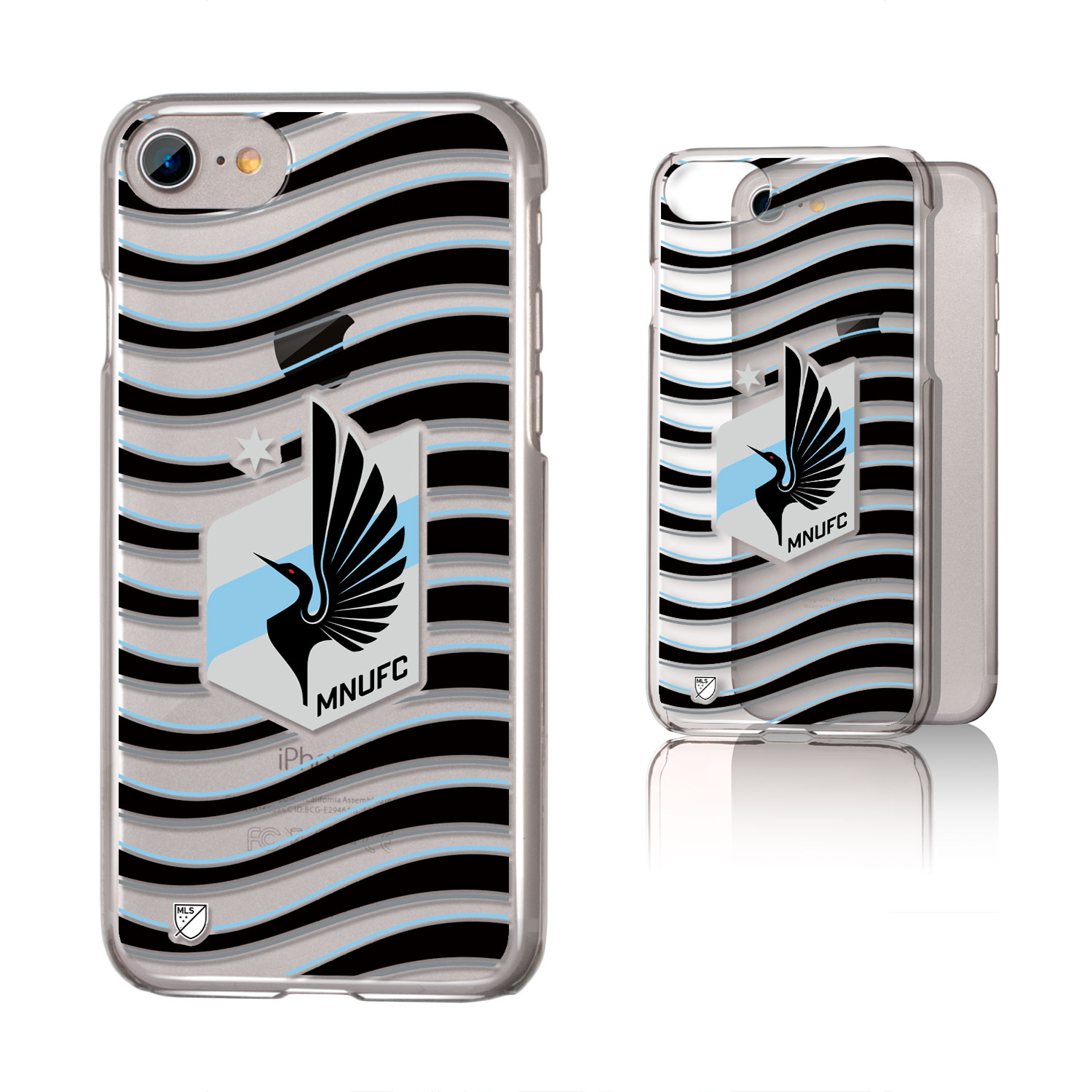 Minnesota United FC MNUFC Wave Clear Case for iPhone 8 / 7 / 6