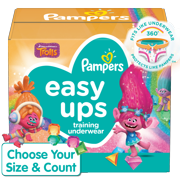 Pampers Easy Ups Training Underwear Girls Size 6 4T-5T 66 Count