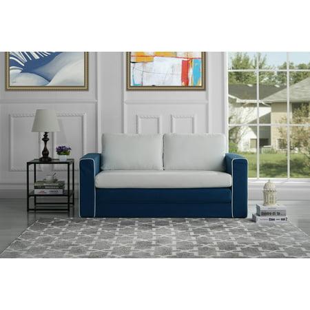 Modern 2 Tone Convertible Sleeper, Modular Sofa, - Modular Fabric Sofas