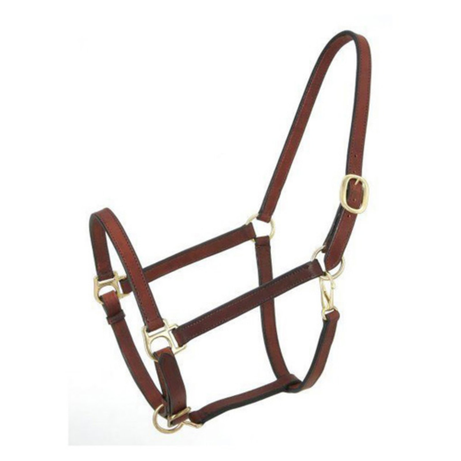 Royal King Brown Narrow Leather Track Halter