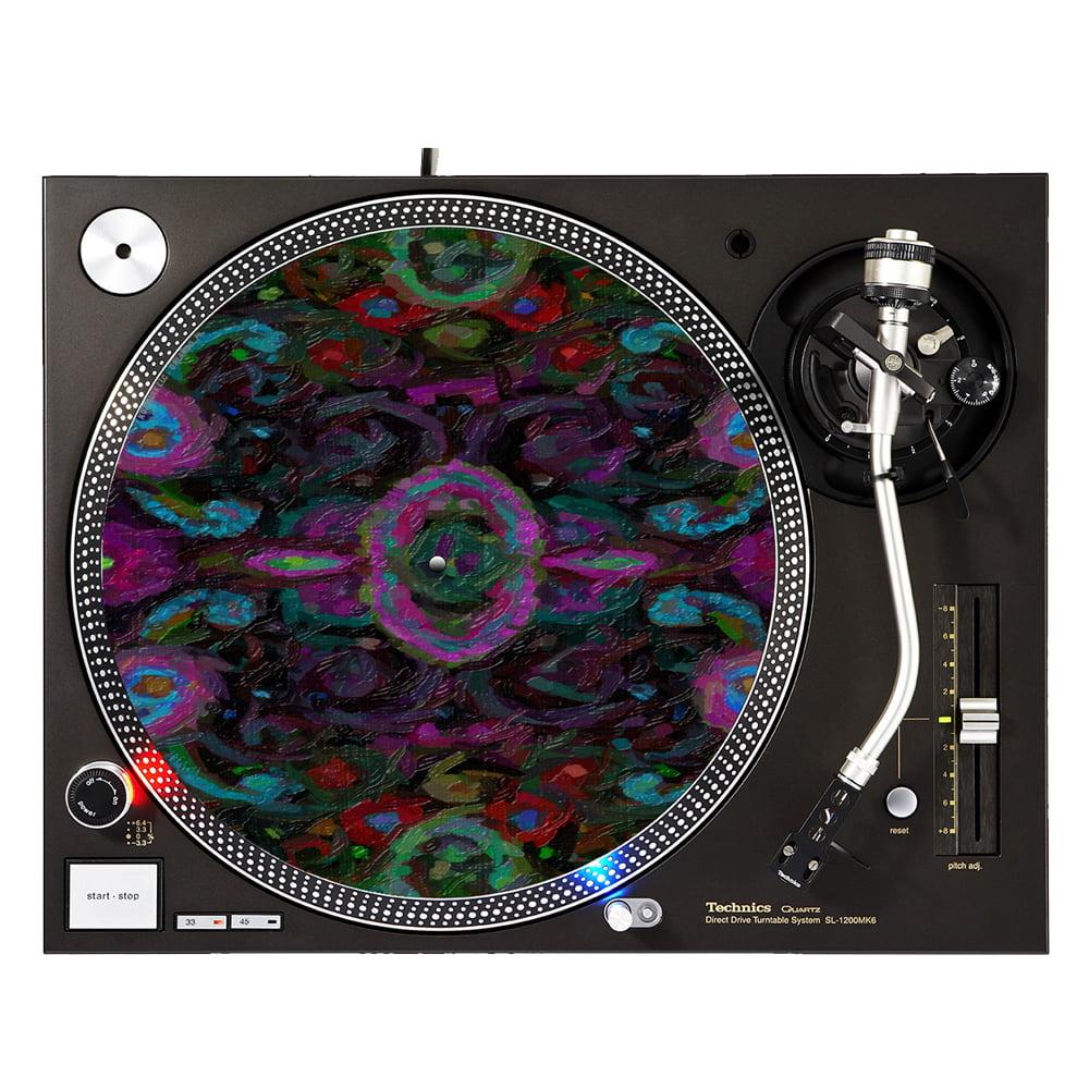 """KuzmarK™ 12"""" DJ Turntable Slipmat - Paisley Painting"""