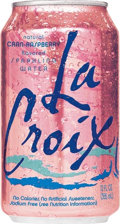 La Croix Cran Raspberry Sparkling Water, 12 Fl Oz Can, 12 Ct by LaCroix