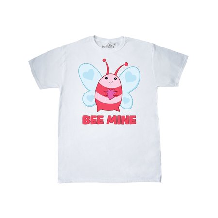Pink Bee Mine Valentine's Day Bee With Heart T-Shirt (Bee Valentine)