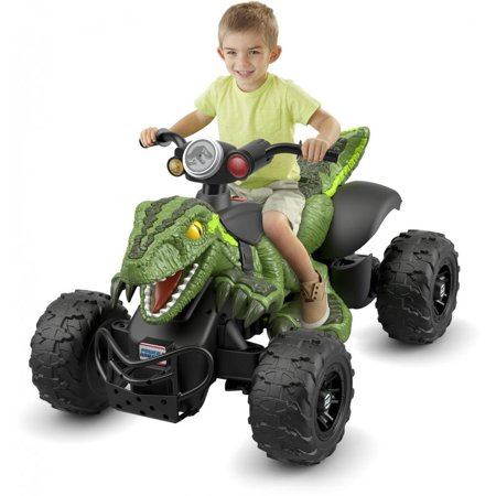 Power Wheels Jurassic World Dino Racer, Green Ride-On ATV for Kids](Power Wheels Ages 8 Up)