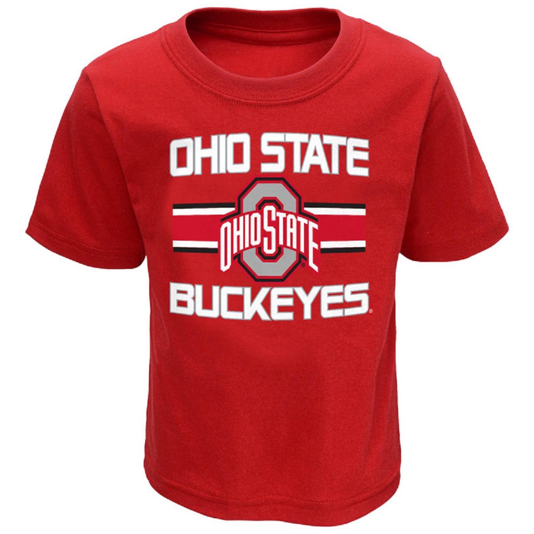 Toddler Scarlet Ohio State Buckeyes Mascot T-Shirt