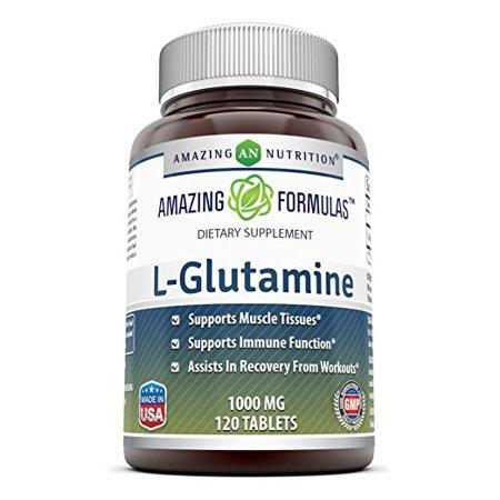 Amazing Formulas L-Glutamine 1000mg, 120 Ct