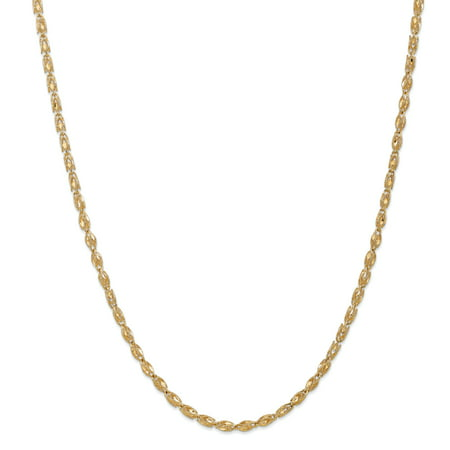 14K Yellow Gold 3.5mm Marquise Chain 18 Inch - image 5 de 5
