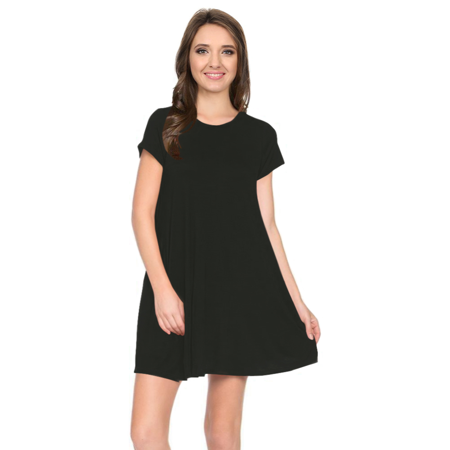 2470b797ca6 Simlu - Womens Casual Short Sleeve T Shirt Dress Flowy Tunic Dress with  Pockets - USA - Walmart.com