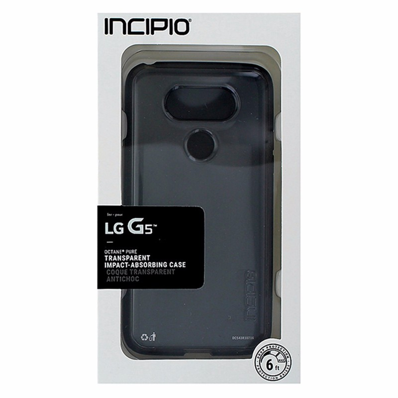brand new 1a728 0f113 OEM Incipio Clear / Black Octane Pure Case Cover Protection for LG ...