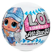 LOL Surprise All-Star BBs Sports Series 1 Baseball Dolls with 8 Surprises Including Glitter Doll, Clothes Fashion, Accessories - For Kids Ages 4-15