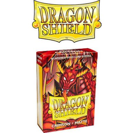Arcane Tinmen ATM11121 Dragon Shield Japanese Card Sleeves Box, Matte Crimson - 60 Count - image 1 of 1