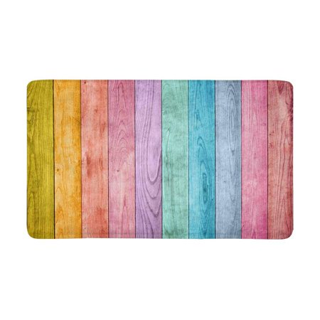 MKHERT Rainbow Colored Wood Doormat Rug Home Decor Floor Mat Bath Mat 30x18 (Rainbow Colored Wood)