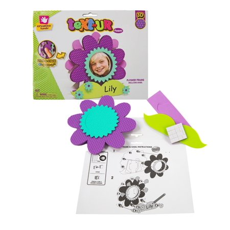 Creative Hands by Fibre-Craft Text-Ur Foam Frame Flower - Walmart.com
