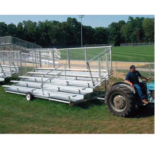 SSG-BSN NBT0524P 5 Row 80 Seat Transport Preferred Bleacher by SSG / BSN