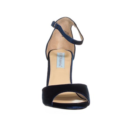 4a113db67 Betsey Johnson Carly Block Heel Ankle Strap Dress Sandals
