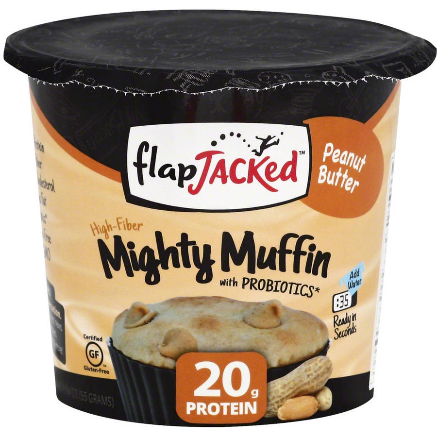 Flapjacked Mighty Muffin Peanut Butter, 1.09 oz, (Pack of 12)