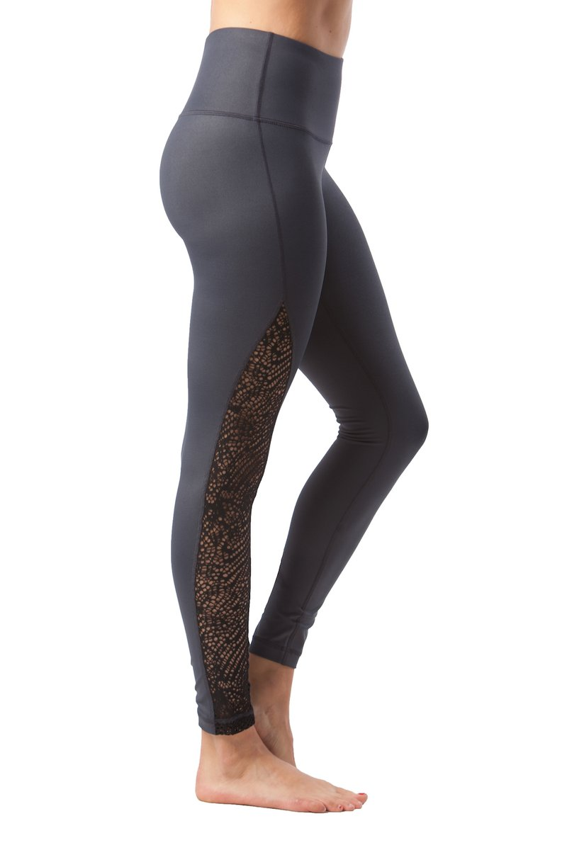 90 Degree By Reflex - Crochet Inset Legging