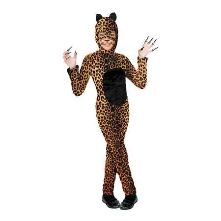 Cheetah Jumpsuit Costume (Girls Cheetah Cat Girl)