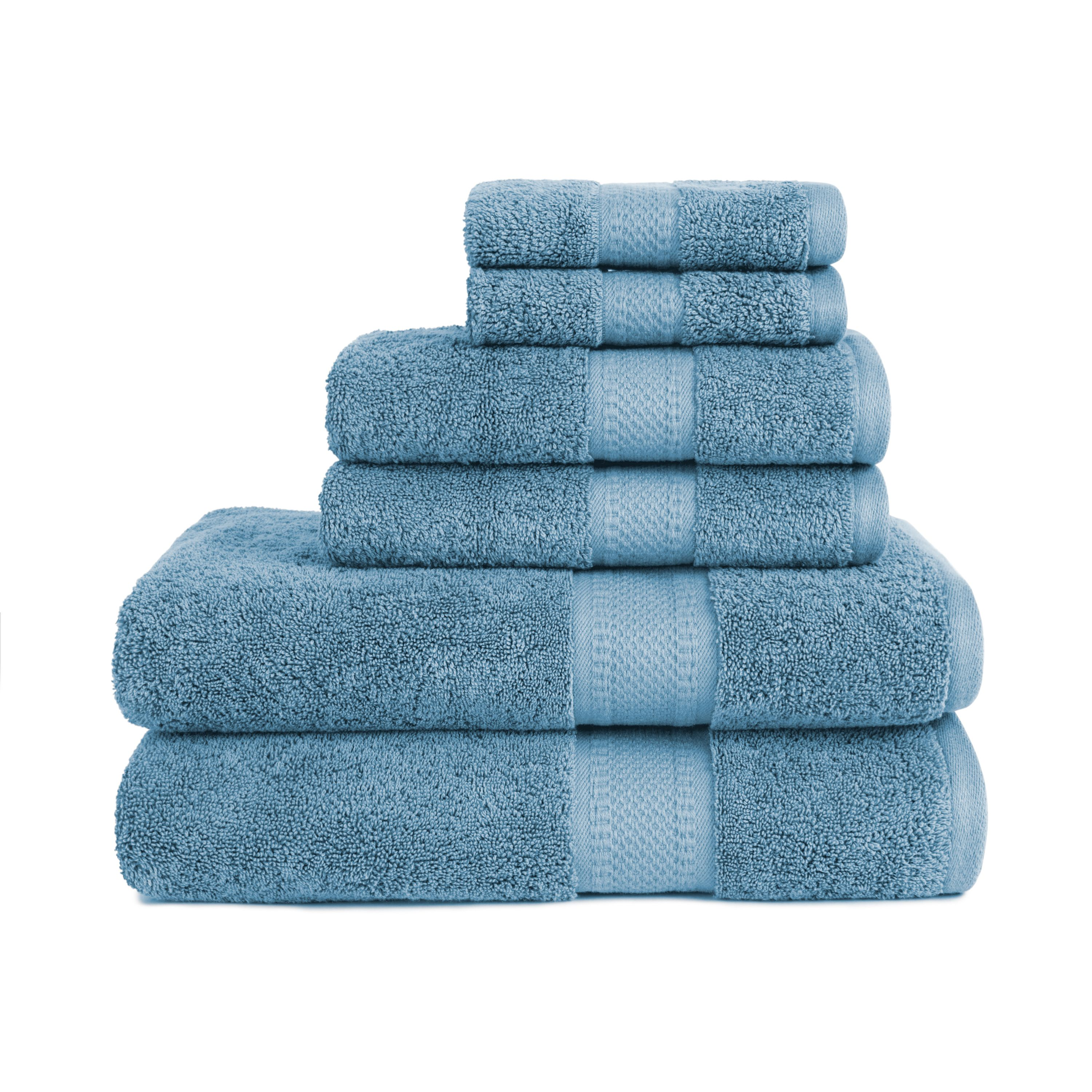 Organic 6 Piece Towel Set in Citadel Blue