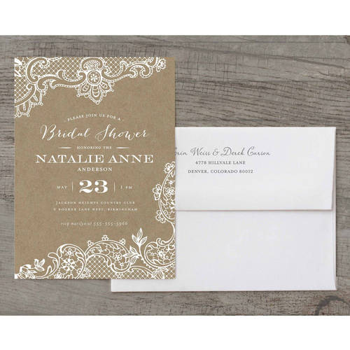 Loving Lace Deluxe Bridal Shower Invitation