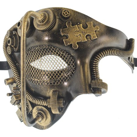 ROBOT PHANTOM MASK - Steampunk - MASQUERADE COSTUME](Steampunk Mask)