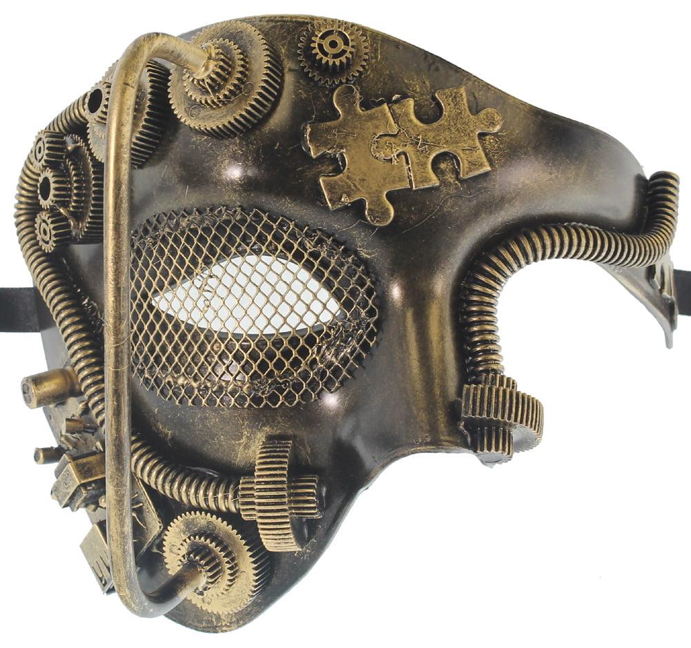 ROBOT PHANTOM MASK - Steampunk - MASQUERADE COSTUME