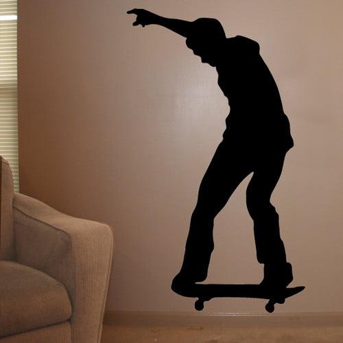 Wallhogs Skateboard Silhouette VI Cutout Wall Decal