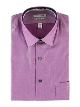 Van Heusen NEW Purple Mens Size 17 Pocket Herringbone Dress Shirt