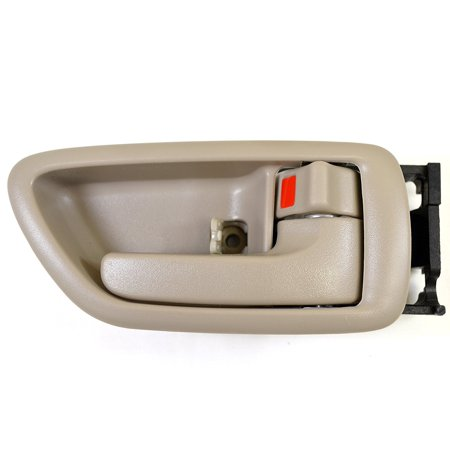 Front ( Rear) Right Passenger Side Interior Inside Inner Door Handle Beige / Tan For 2001-2007 Toyota Sequoia; 2004-2006 Toyota Tundra (Crew Cab ONLY)