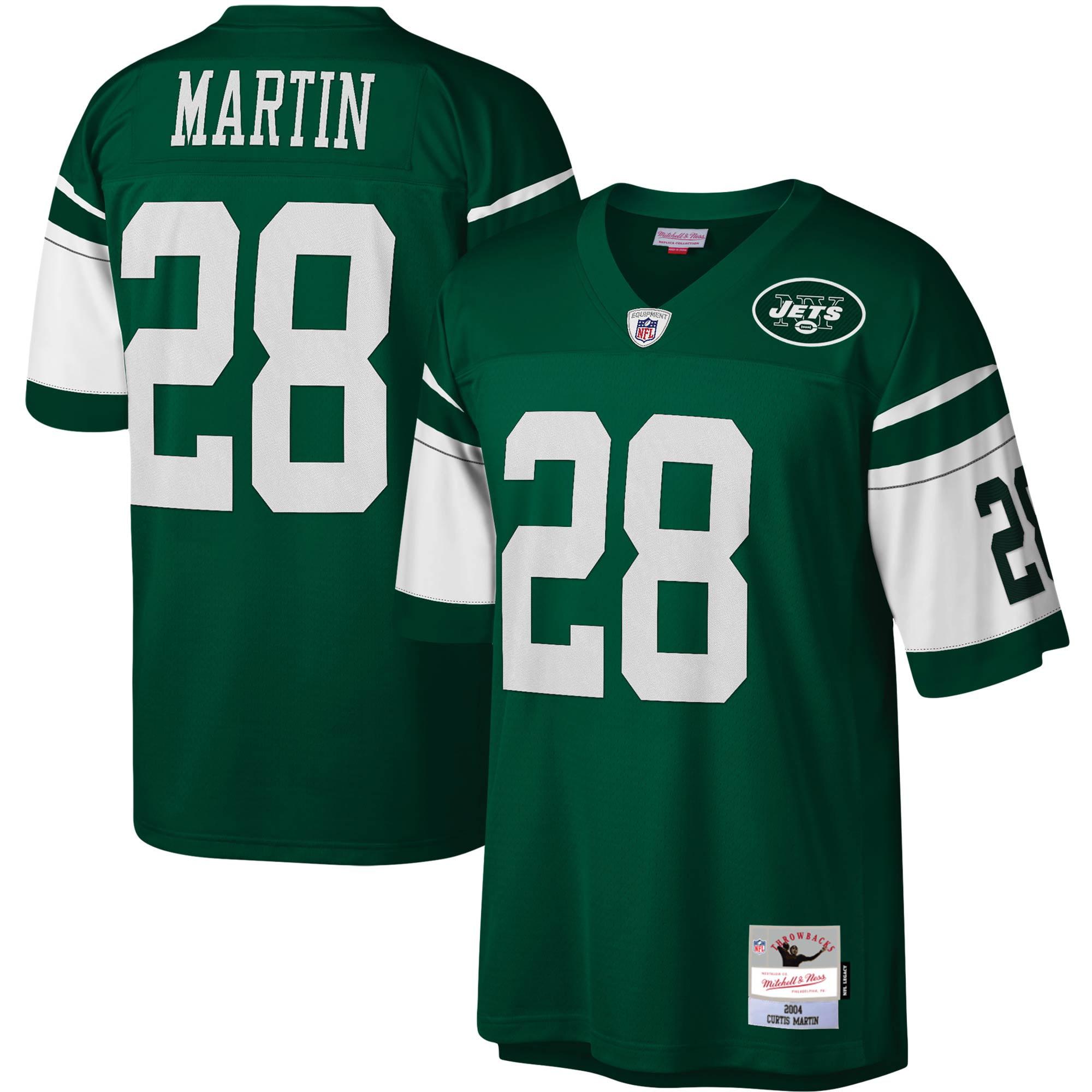 Curtis Martin New York Jets Mitchell & Ness Legacy Replica Jersey - Green - Walmart.com