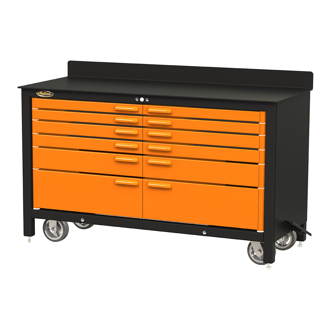Swivel Storage Solutions PRO603512 12-Drawer 60-Inch Rolling Workbench by