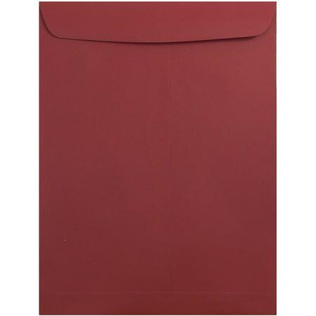 Red Envelope Catalog (JAM Paper 10 x 13 Open End Catalog Envelopes with Gum Closure, Dark Red,)