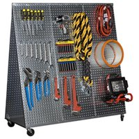 Alligator Board WOWCART48 48 in. L A Frame Metal Pegboard Wow Tool Cart/Wheels