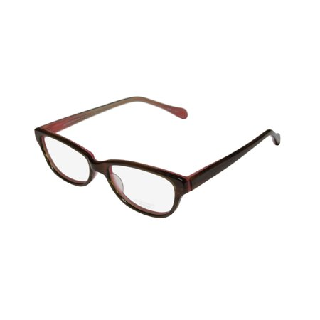 (New Oliver Peoples Devereaux Womens/Ladies Cat Eye Full-Rim Brown Horn / Coral Must Have Brand Name Cat Eye Frame Demo Lenses 50-16-135 Eyeglasses/Spectacles)