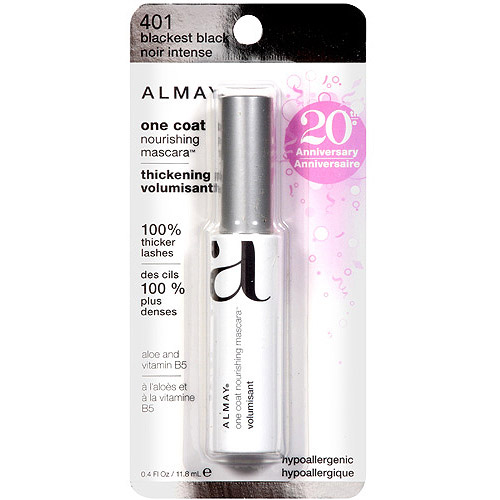 Almay One Coat Nourishing Thickening Mascara, 401 Blackest Black