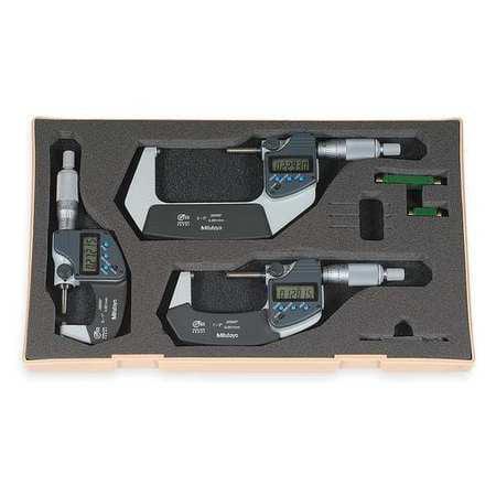 Mitutoyo Micrometer Set - Mitutoyo Digital Outside Micrometer Set, 293-960-30