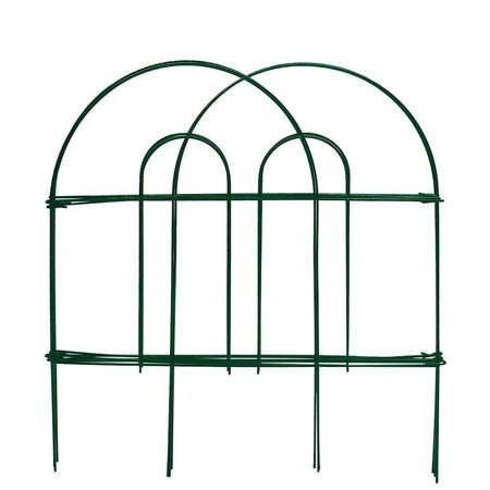 Flower Bed Fence - High Supply Decorative Garden Fence 18 in x 50 ft Rustproof Green Iron Landscape Wire Folding Fencing Ornamental Panel Border Edge Section Edging Patio Flower Bed Animal Barrier for Dog Outdoor Fences
