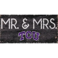 TCU Horned Frogs 6'' x 12'' Mr. & Mrs. Sign