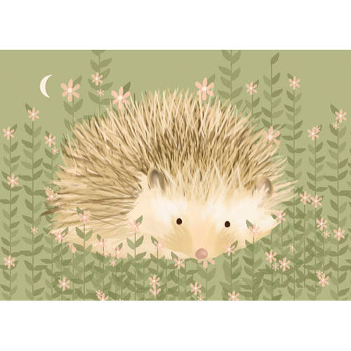 Oopsy Daisy's Holly the Hedgehog Canvas Wall Art, Size 14x10