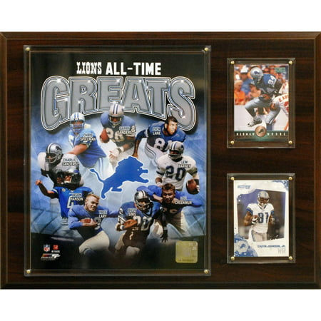 C&I Collectables NFL 12x15 Detroit Lions All-Time Great Photo Plaque