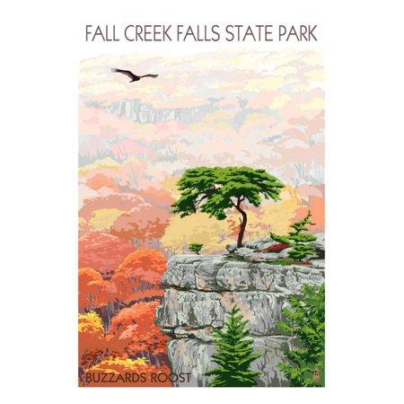 Fall Creek Falls State Park, Tennessee - Buzzards Roost Print Wall Art By Lantern Press