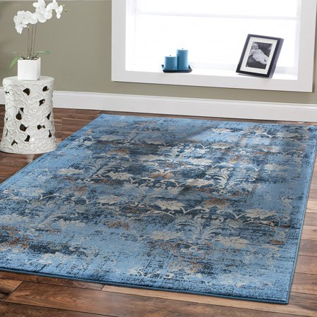 Premium Rugs Large 8x11 Rugs for Living Room 8x10 Area Rugs Under Table 8x10 Area RugsBlue Distressed Rugs 8 by 10 ()