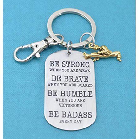 Mom and Three Sister LTD - Karate keychain in stainless steel. Karate key chain. Karate Gifts. Karate Mom. Be Badass Everyday. Gift for him.